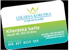 Klientská karta Lékárna KORUNKA